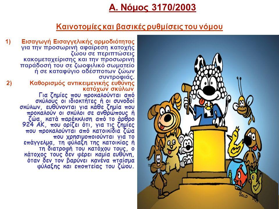 Α. Νόμος 3170/2003 Καινοτομίες και βασικές ρυθμίσεις του νόμου