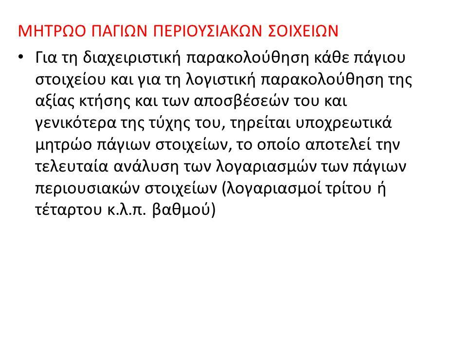 ΜΗΤΡΩΟ ΠΑΓΙΩΝ ΠΕΡΙΟΥΣΙΑΚΩΝ ΣΟΙΧΕΙΩΝ