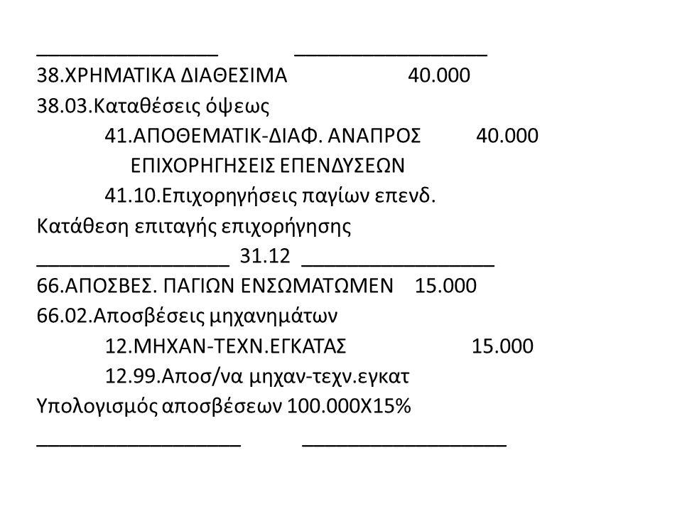 ________________ _________________ 38. ΧΡΗΜΑΤΙΚΑ ΔΙΑΘΕΣΙΜΑ 40. 000 38