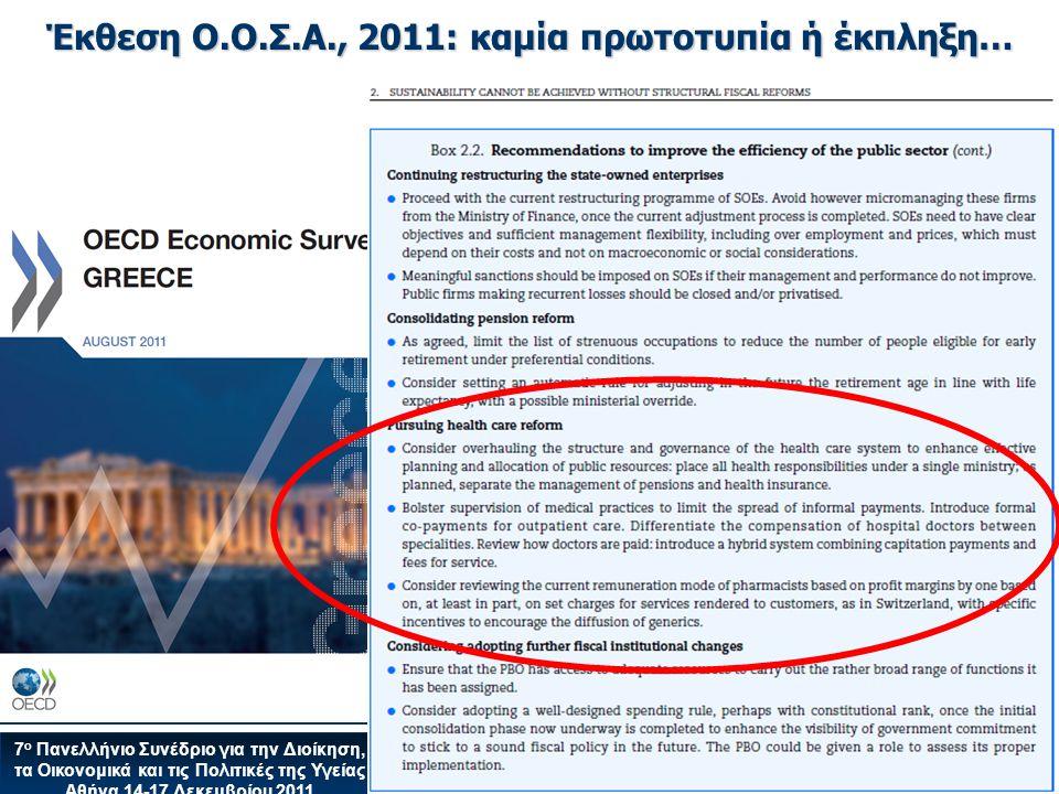 Έκθεση Ο.Ο.Σ.Α., 2011: καμία πρωτοτυπία ή έκπληξη…
