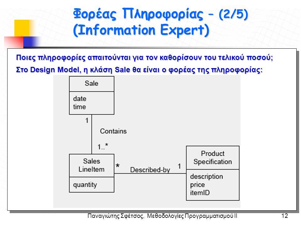 Στόχοι Φορέας Πληροφορίας – (2/5) (Information Expert)
