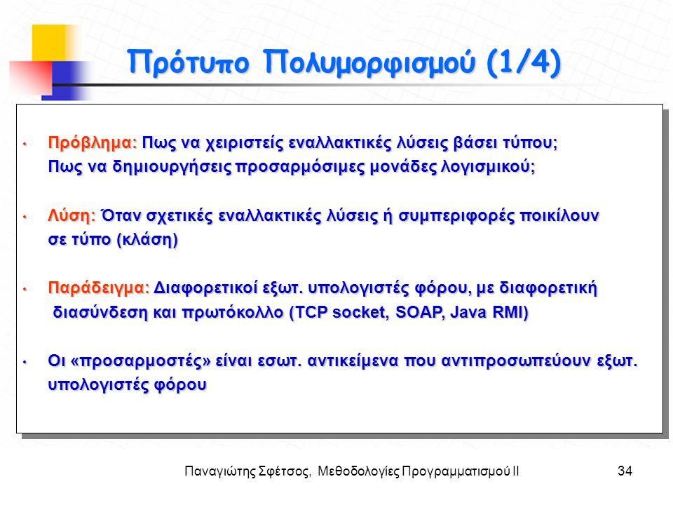Παναγιώτης Σφέτσος, Μεθοδολογίες Προγραμματισμού ΙΙ