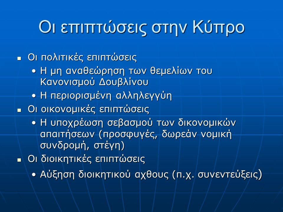 Οι επιπτώσεις στην Κύπρο