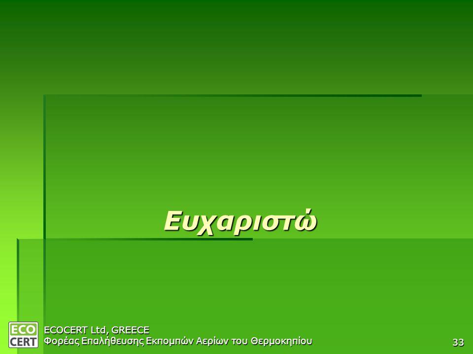 COMPANY PRESENTATION 04/04/2007 Ευχαριστώ ECOCERT Ltd, GREECE