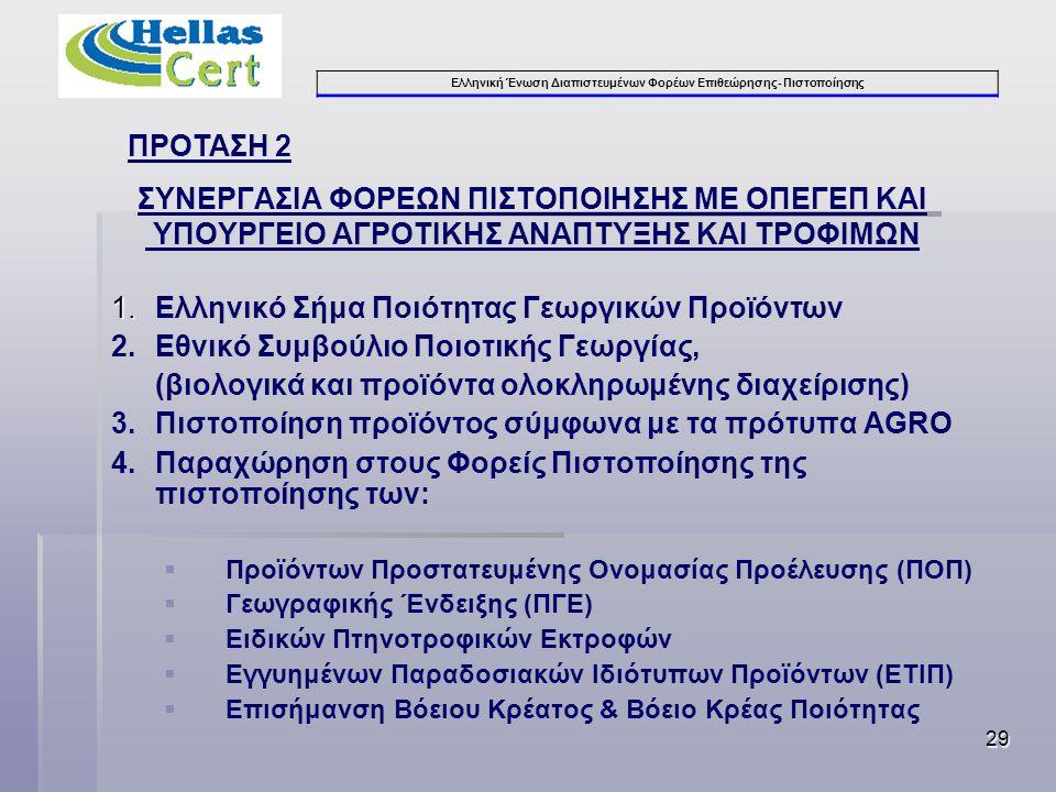 1. Ελληνικό Σήμα Ποιότητας Γεωργικών Προϊόντων