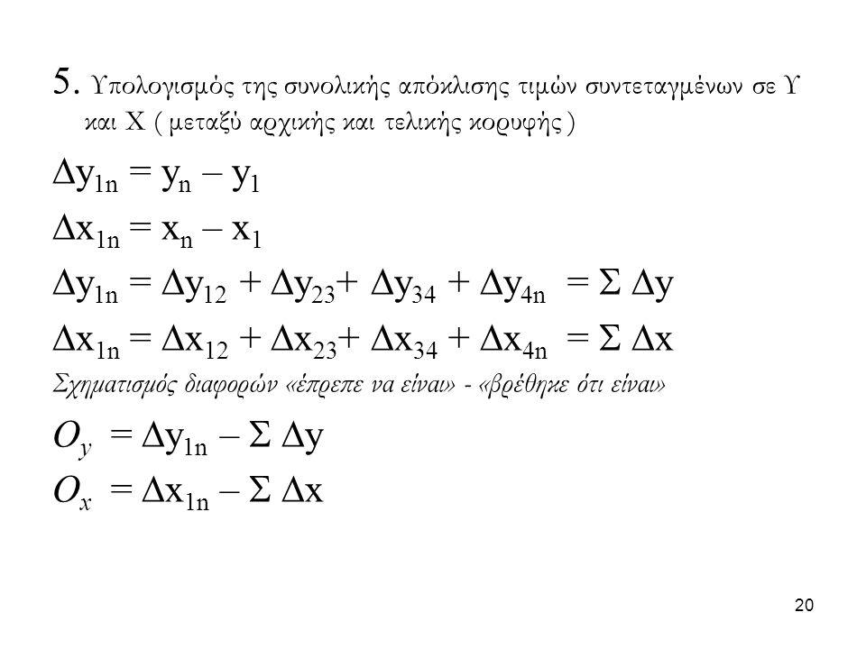 y1n = y12 + y23+ y34 + y4n =  y