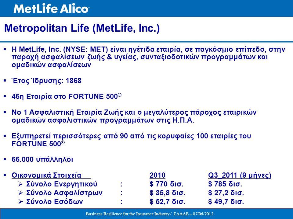 Metropolitan Life (MetLife, Inc.)