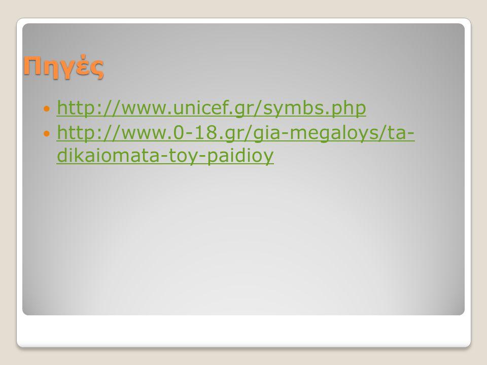 Πηγές http://www.unicef.gr/symbs.php