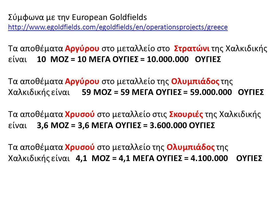 Σύμφωνα με την European Goldfields http://www. egoldfields