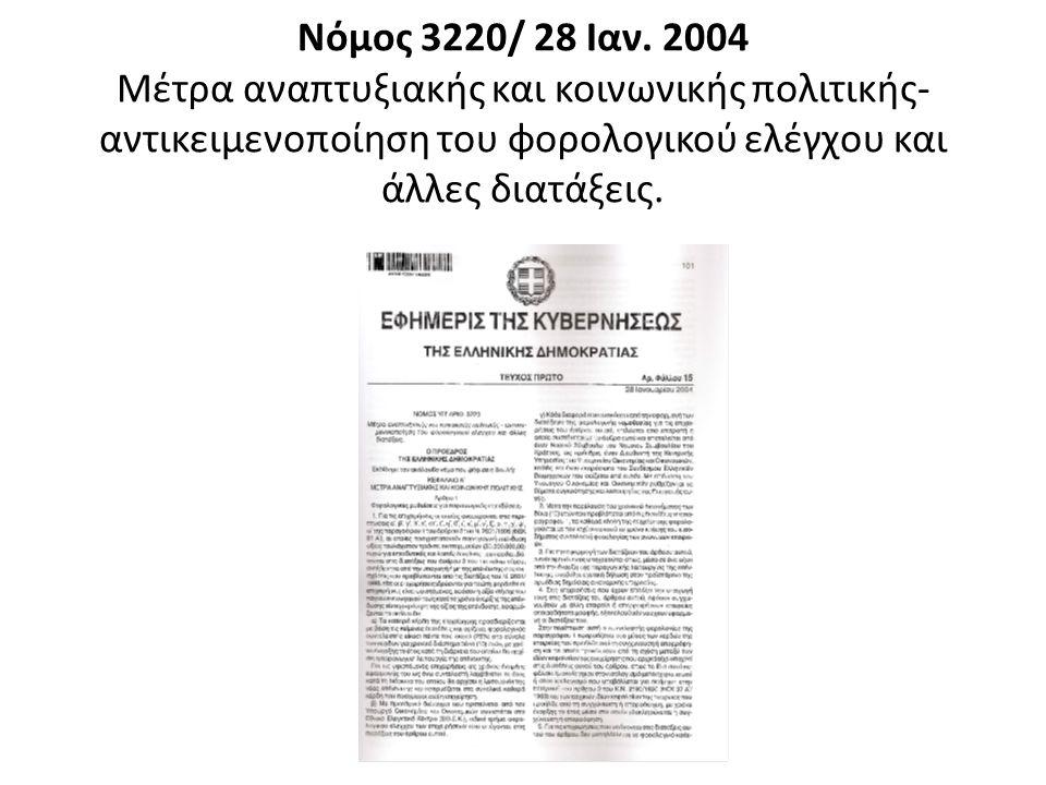 Νόμος 3220/ 28 Ιαν.