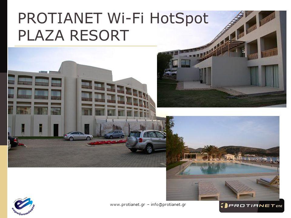 PROTIANET Wi-Fi HotSpot PLAZA RESORT