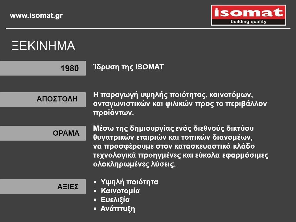 ΞΕΚΙΝΗΜΑ 1980 Ίδρυση της ISOMAT