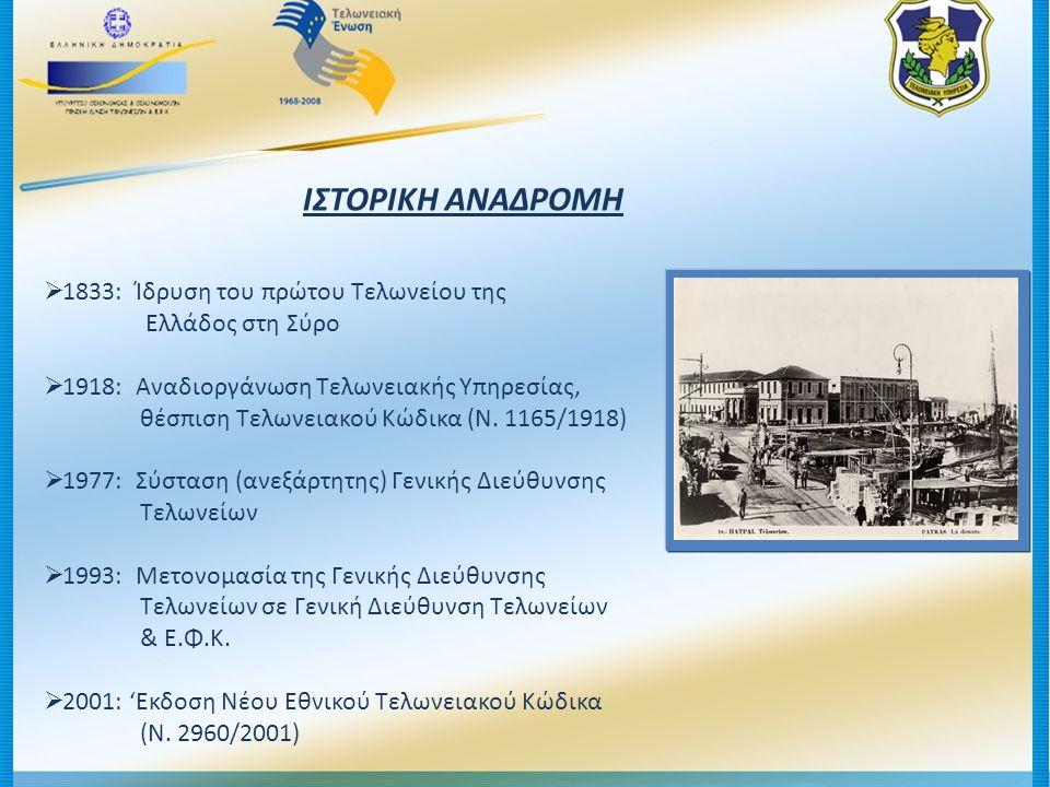 ΙΣΤΟΡΙΚΗ ΑΝΑΔΡΟΜΗ 1833: Ίδρυση του πρώτου Τελωνείου της