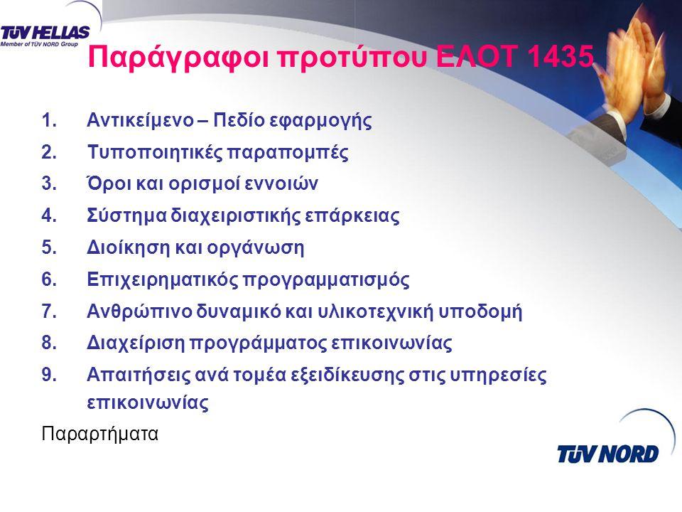 Παράγραφοι προτύπου ΕΛΟΤ 1435