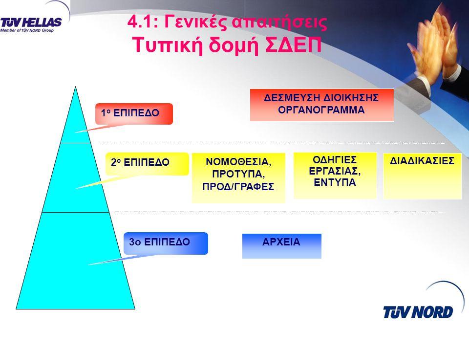4.1: Γενικές απαιτήσεις Τυπική δομή ΣΔΕΠ