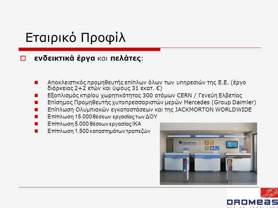 Εταιρικό Προφίλ ενδεικτικά έργα και πελάτες: