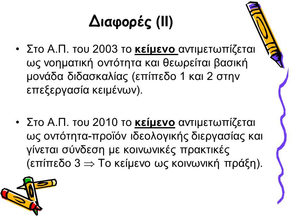 Διαφορές (ΙΙ)