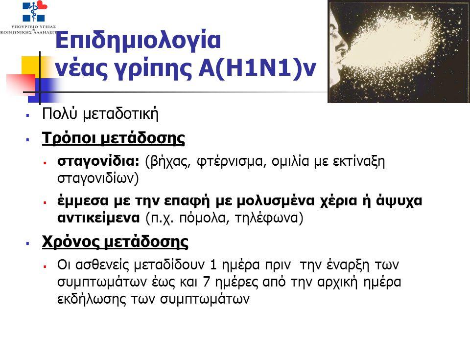 Επιδημιολογία νέας γρίπης Α(Η1Ν1)v