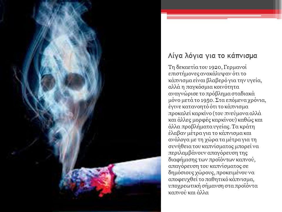 Λίγα λόγια για το κάπνισμα