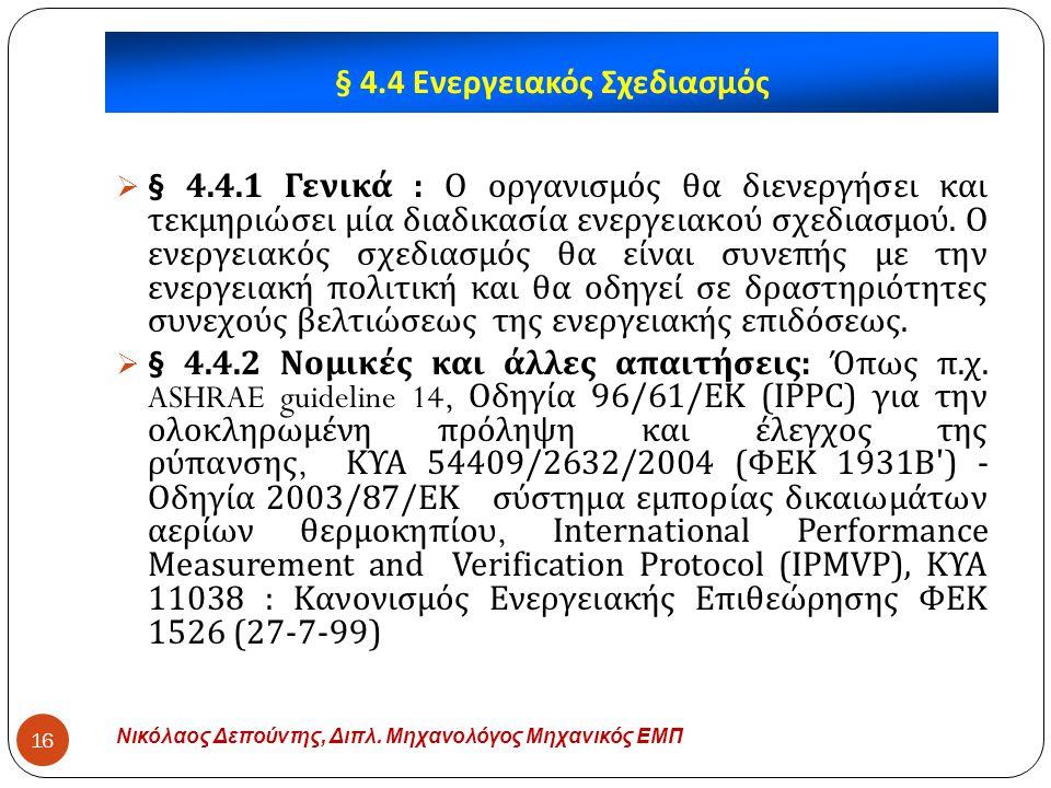 § 4.4 Ενεργειακός Σχεδιασμός