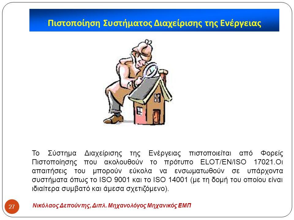 Πιστοποίηση Συστήματος Διαχείρισης της Ενέργειας