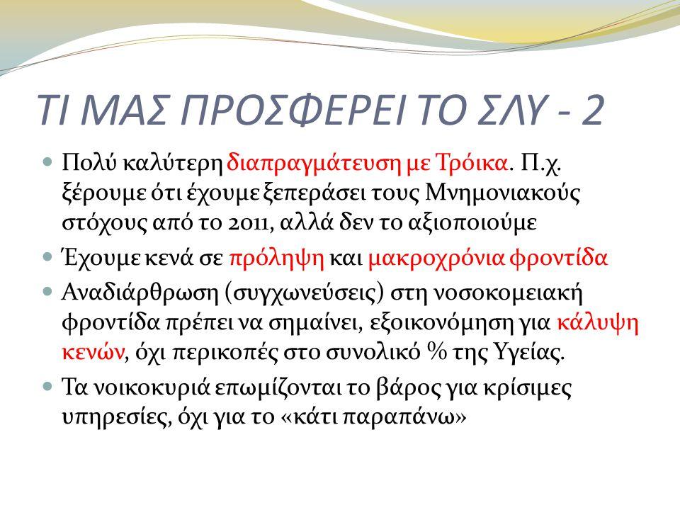 ΤΙ ΜΑΣ ΠΡΟΣΦΕΡΕΙ ΤΟ ΣΛΥ - 2