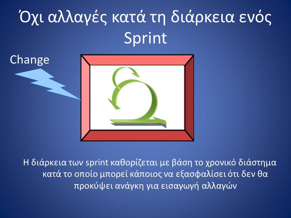 Όχι αλλαγές κατά τη διάρκεια ενός Sprint