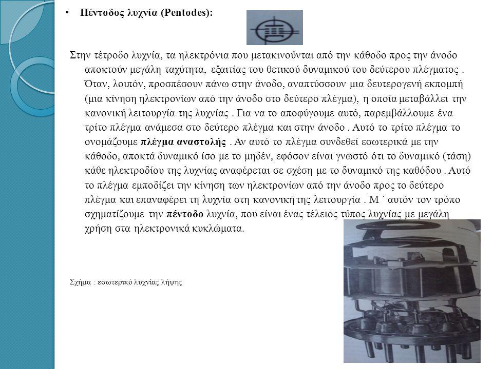 Πέντοδος λυχνία (Pentodes):