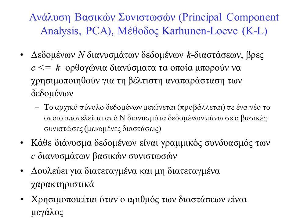 Ανάλυση Βασικών Συνιστωσών (Principal Component Analysis, PCA), Μέθοδος Karhunen-Loeve (K-L)