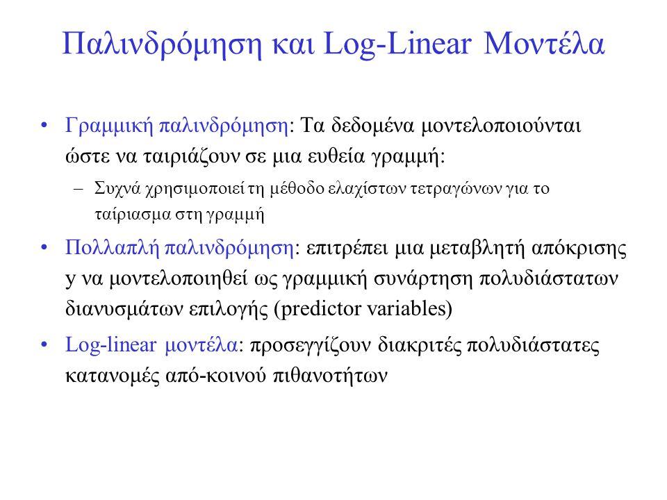 Παλινδρόμηση και Log-Linear Μοντέλα