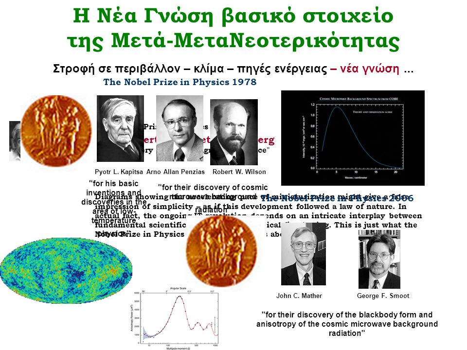 for their discovery of cosmic microwave background radiation