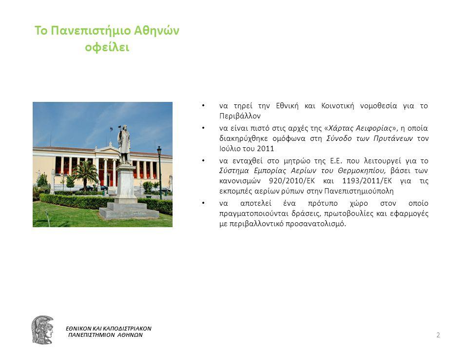 Το Πανεπιστήμιο Αθηνών οφείλει