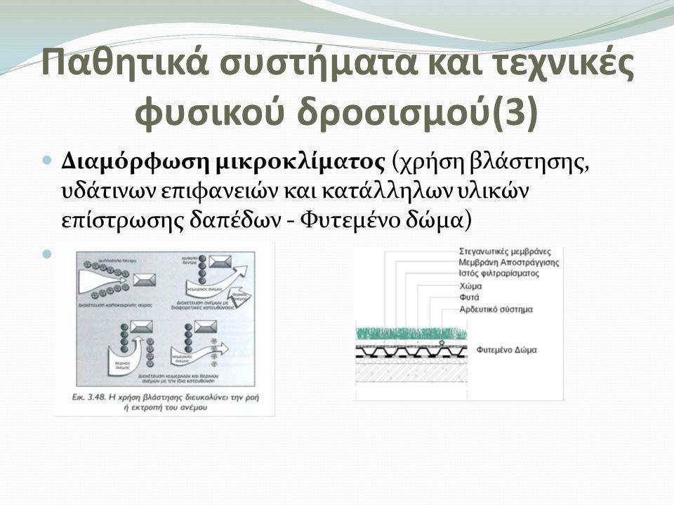 Παθητικά συστήματα και τεχνικές φυσικού δροσισμού(3)