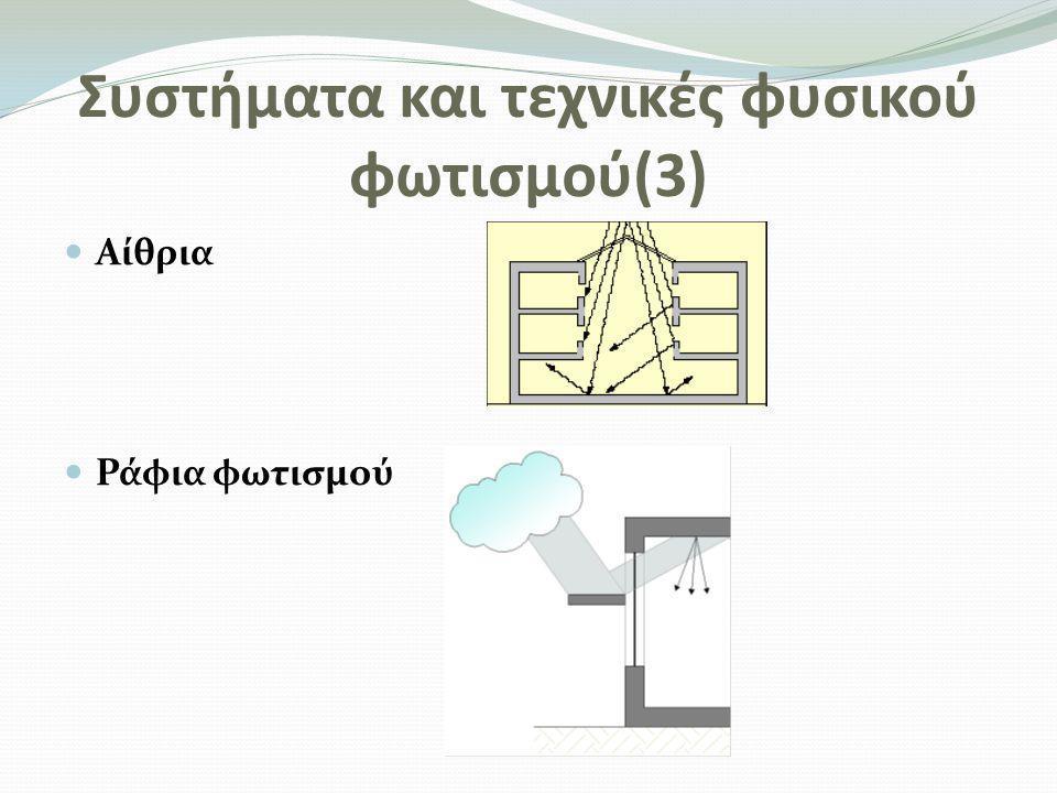Συστήματα και τεχνικές φυσικού φωτισμού(3)