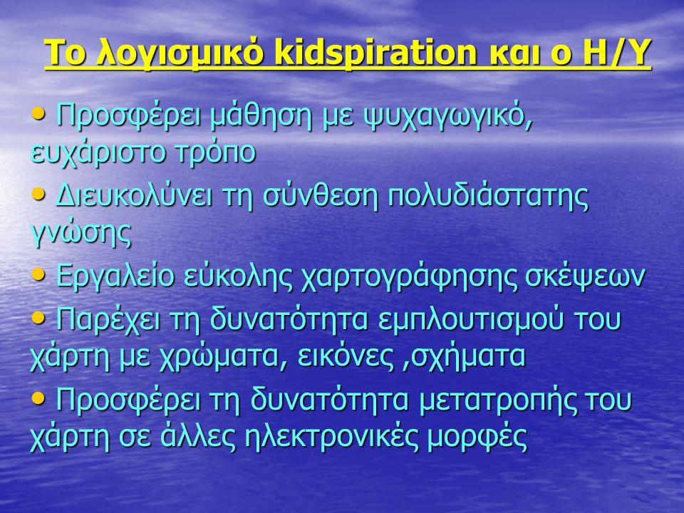 Το λογισμικό kidspiration και ο Η/Υ