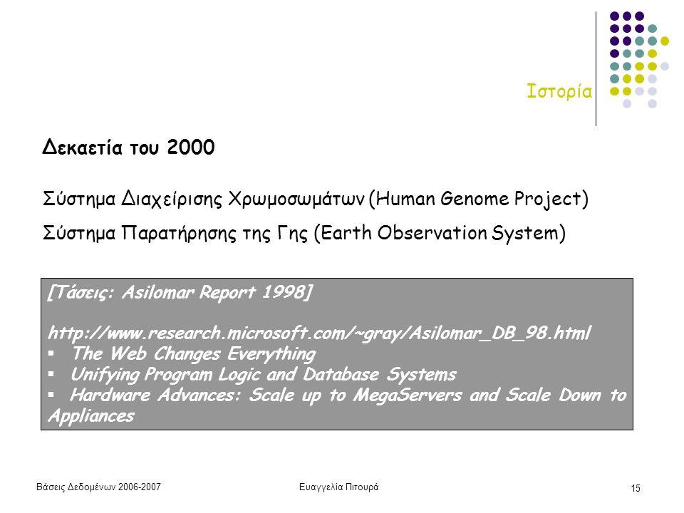 Σύστημα Διαχείρισης Χρωμοσωμάτων (Human Genome Project)