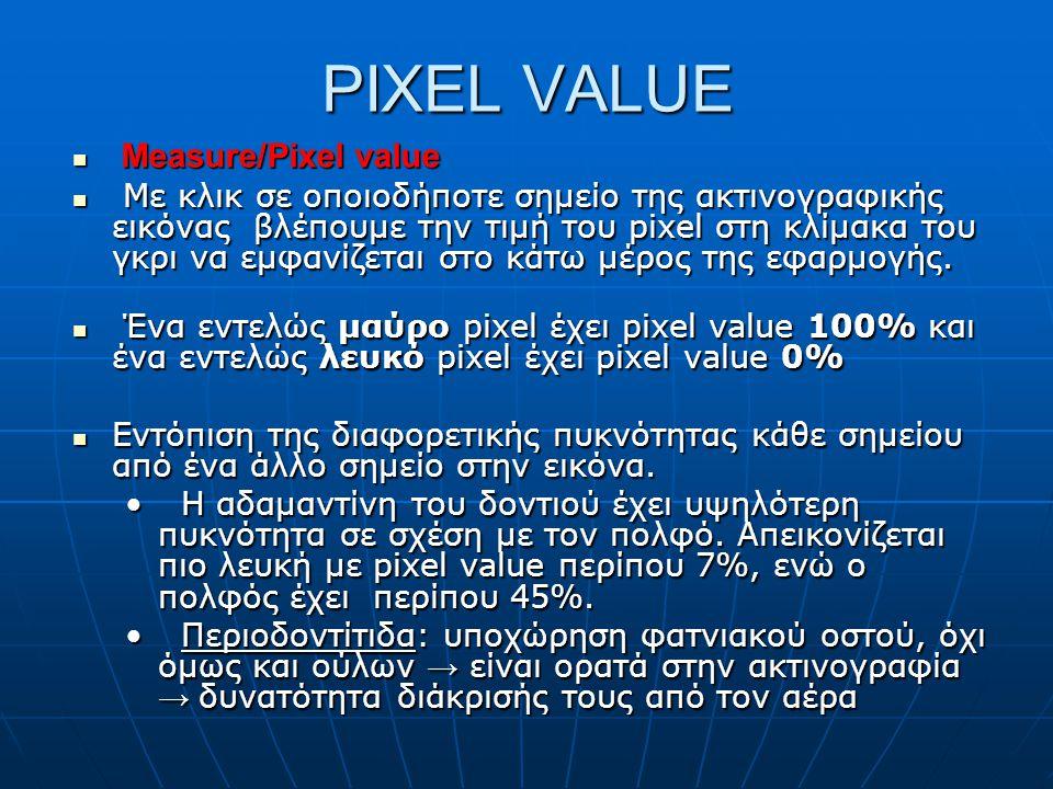 PIXEL VALUE Measure/Pixel value