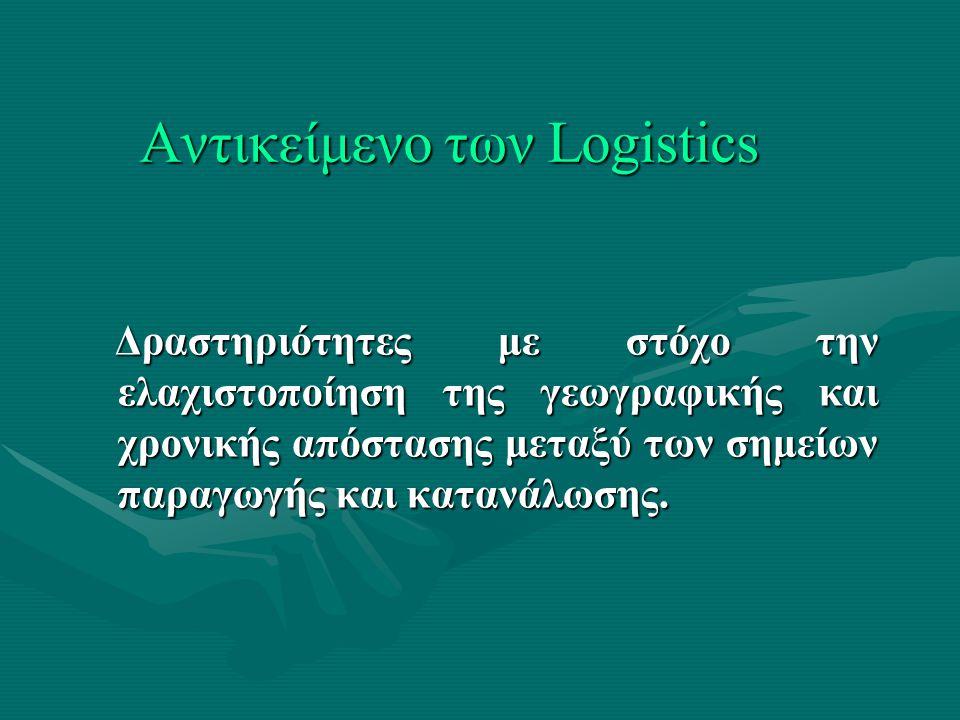 Αντικείμενο των Logistics