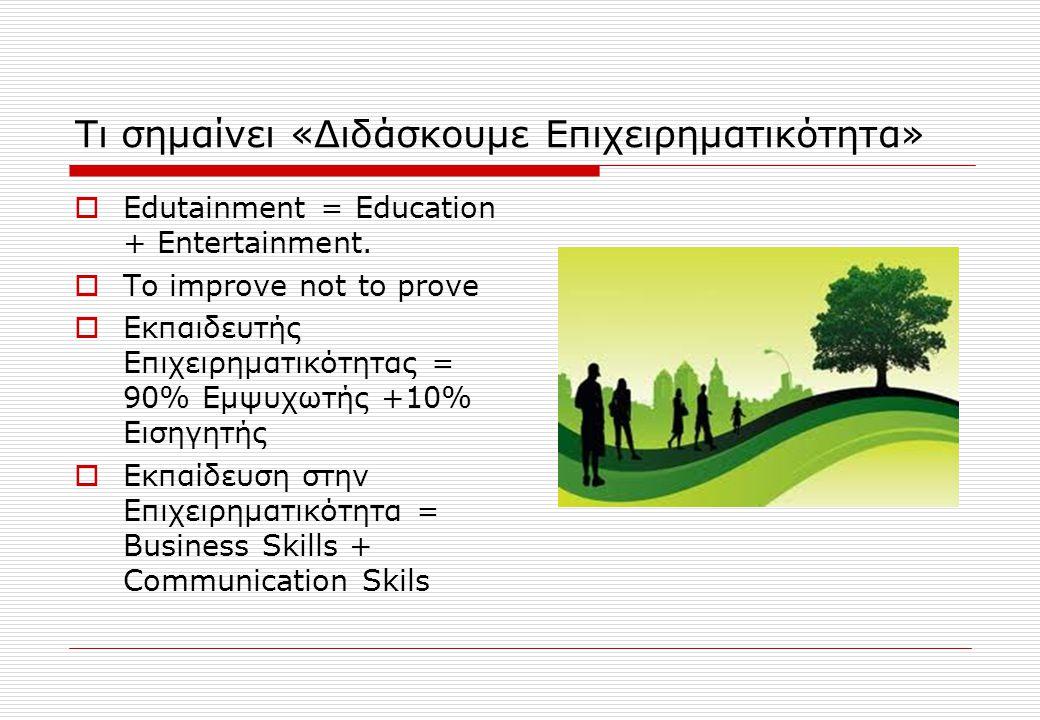 Τι σημαίνει «Διδάσκουμε Επιχειρηματικότητα»