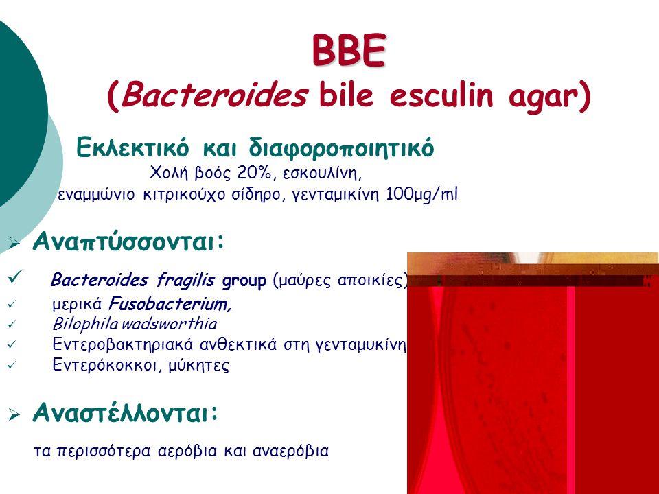BBE (Bacteroides bile esculin agar)