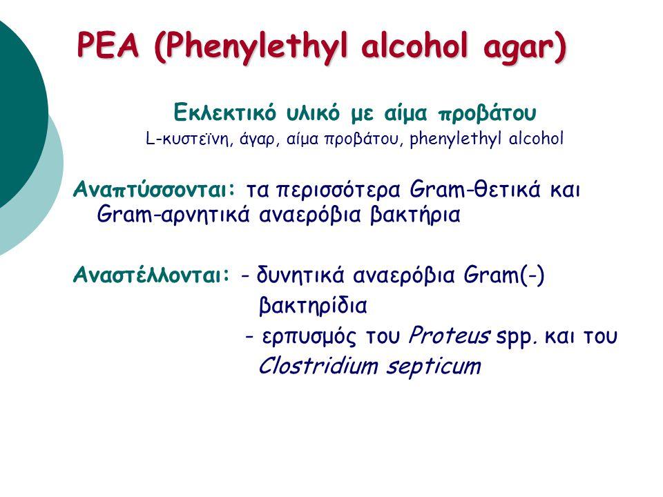 PEA (Phenylethyl alcohol agar)