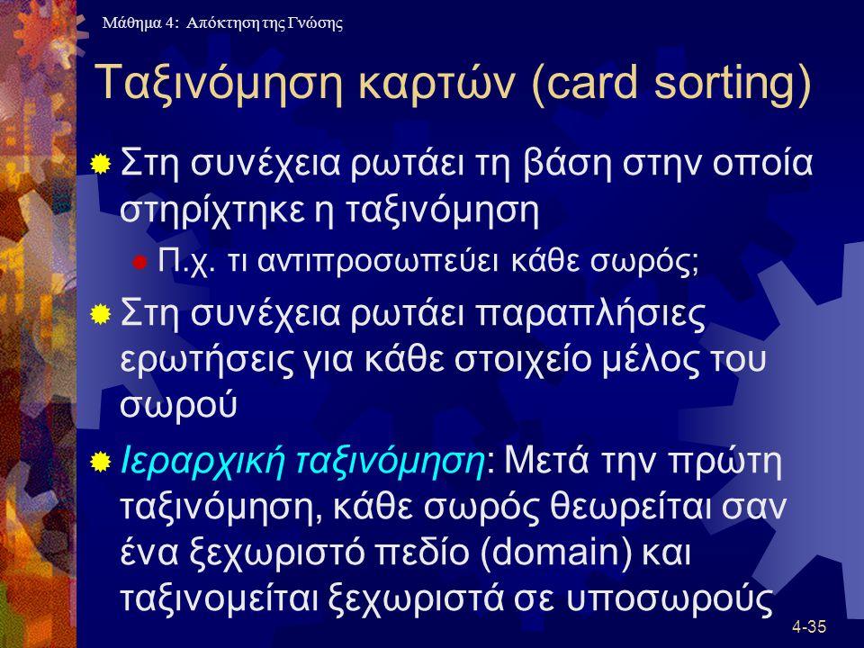 Ταξινόμηση καρτών (card sorting)