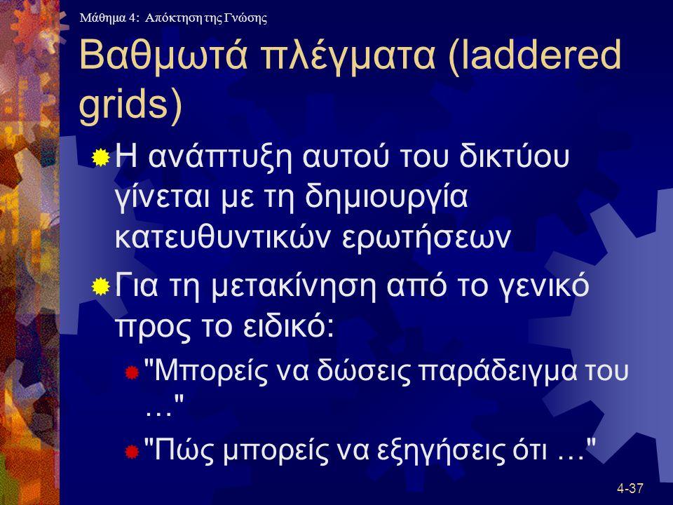 Βαθμωτά πλέγματα (laddered grids)