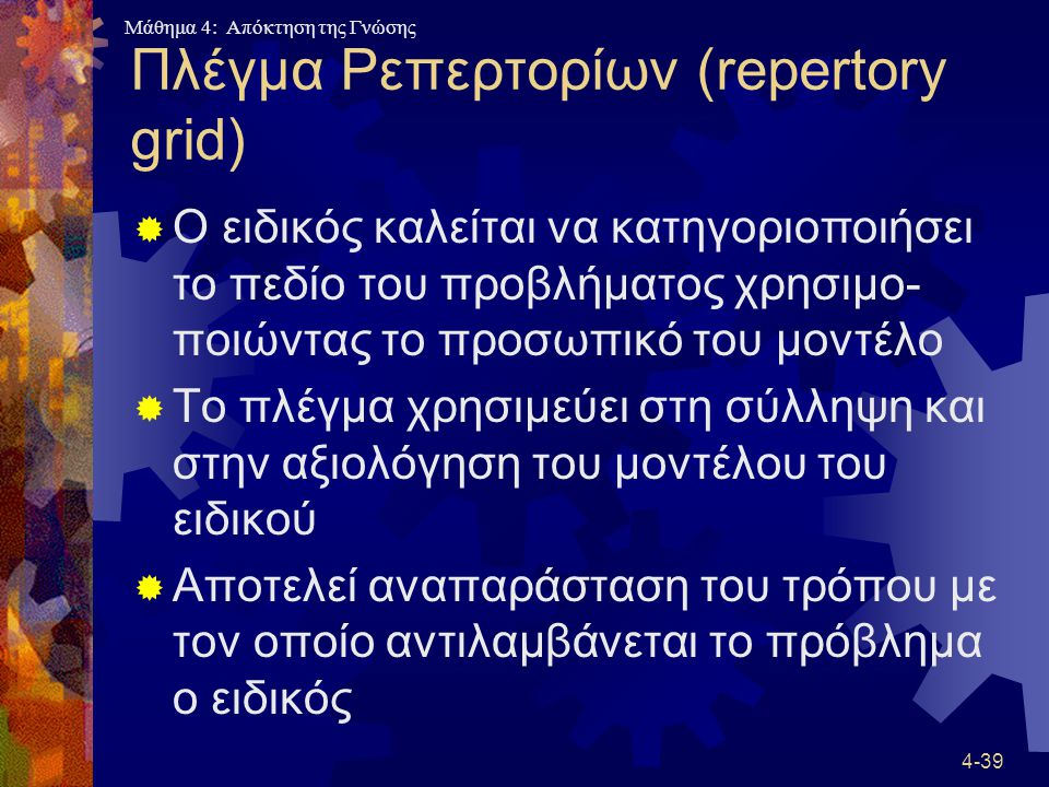 Πλέγμα Ρεπερτορίων (repertory grid)