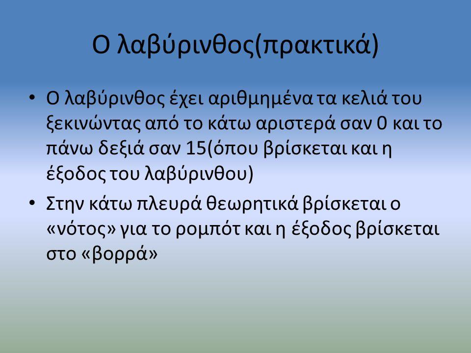 Ο λαβύρινθος(πρακτικά)