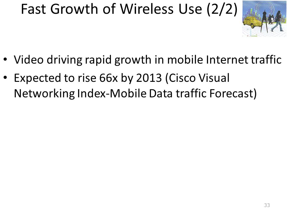 Fast Growth of Wireless Use (2/2)
