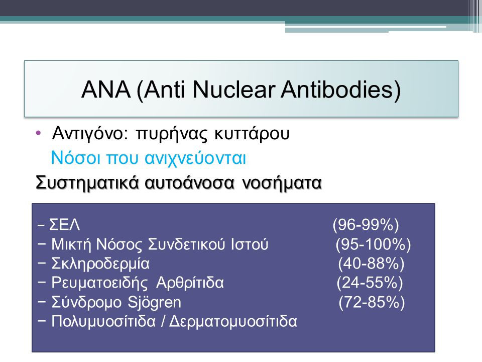 ANA (Anti Nuclear Antibodies)