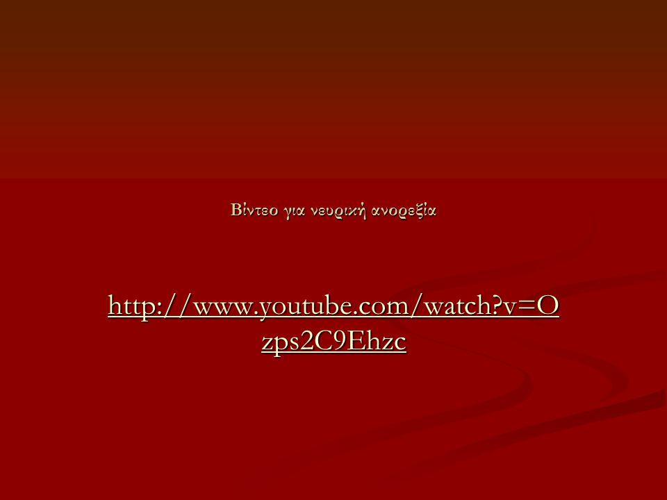 Βίντεο για νευρική ανορεξία
