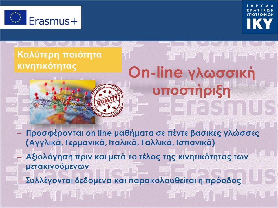 On-line γλωσσική υποστήριξη