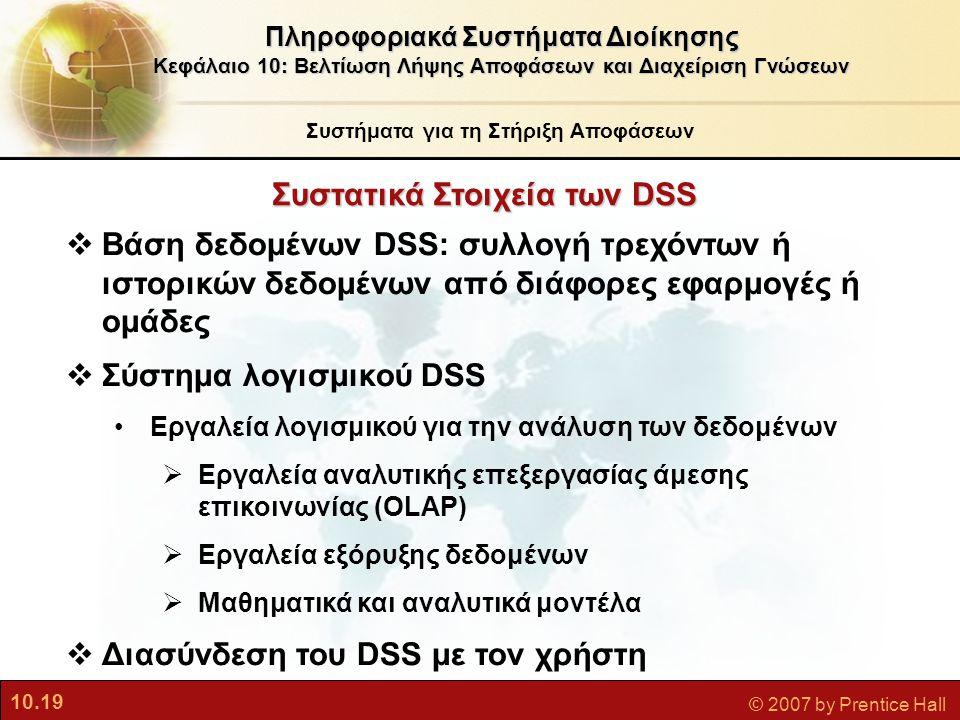 Συστατικά Στοιχεία των DSS